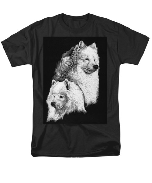 Men's T-Shirt  (Regular Fit) featuring the drawing Samoyed by Rachel Hames