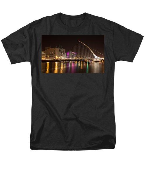 Samuel Beckett Bridge In Dublin City Men's T-Shirt  (Regular Fit) by Semmick Photo