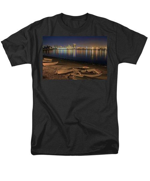 San Diego Harbor Lights Men's T-Shirt  (Regular Fit) by Gary Holmes