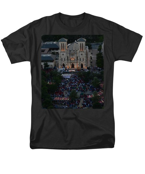 San Fernando Cathedral 001 Men's T-Shirt  (Regular Fit) by Shawn Marlow