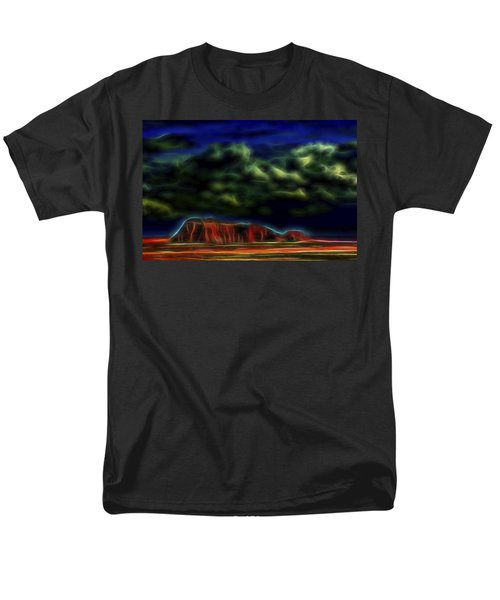 Men's T-Shirt  (Regular Fit) featuring the digital art Sandstone Monolith 1 by William Horden