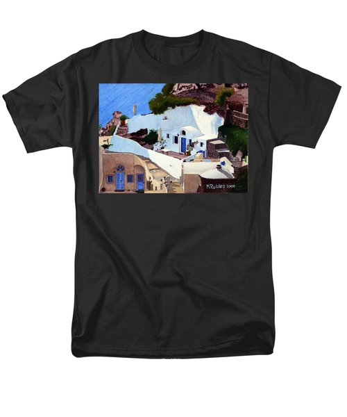 Santorini Cave Homes Men's T-Shirt  (Regular Fit) by Mike Robles