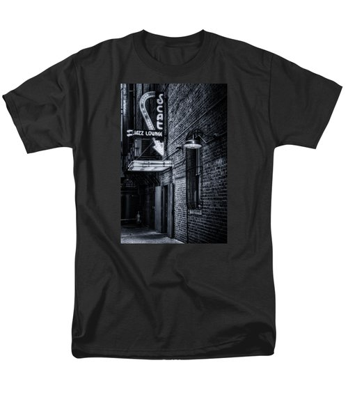 Scat Lounge In Cool Black And White Men's T-Shirt  (Regular Fit) by Joan Carroll