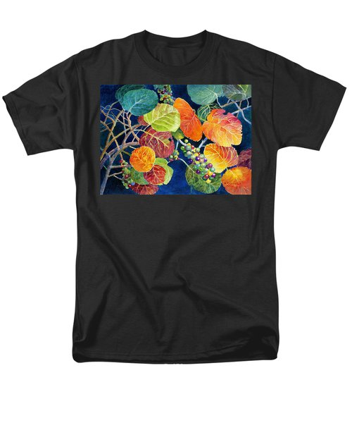Men's T-Shirt  (Regular Fit) featuring the painting Sea Grapes II by Roger Rockefeller