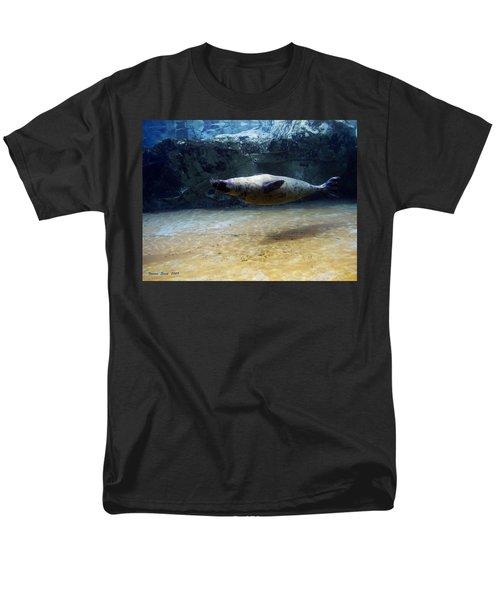 Men's T-Shirt  (Regular Fit) featuring the photograph Sea Lion Swimming Upsidedown by Verana Stark