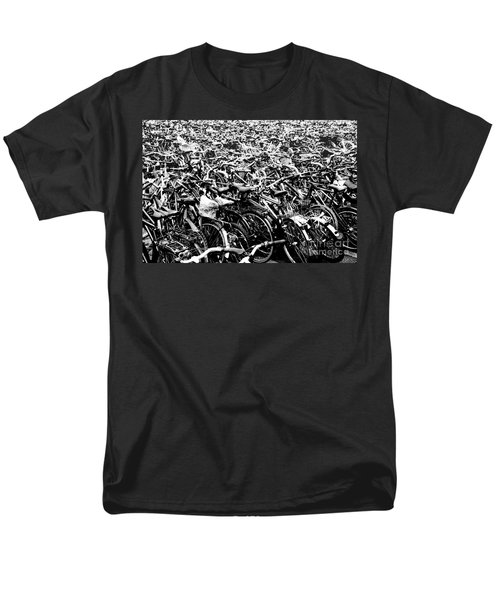 Men's T-Shirt  (Regular Fit) featuring the photograph Sea Of Bicycles 3 by Joey Agbayani