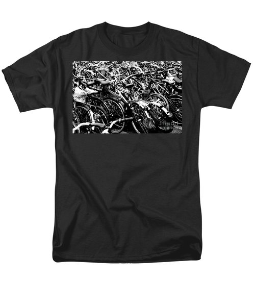 Men's T-Shirt  (Regular Fit) featuring the photograph Sea Of Bicycles 2 by Joey Agbayani
