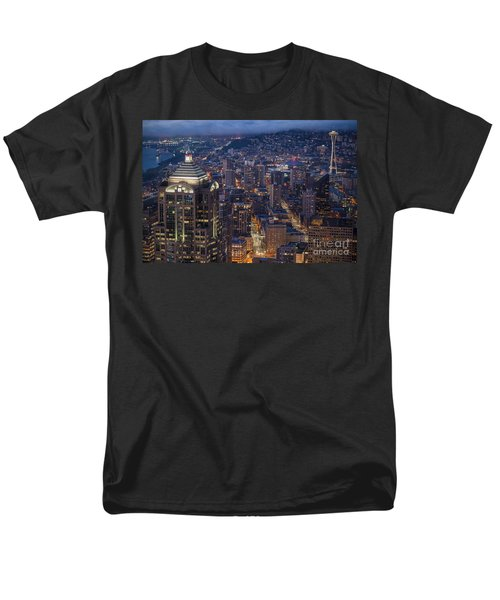 Seattle Urban Details Men's T-Shirt  (Regular Fit) by Mike Reid