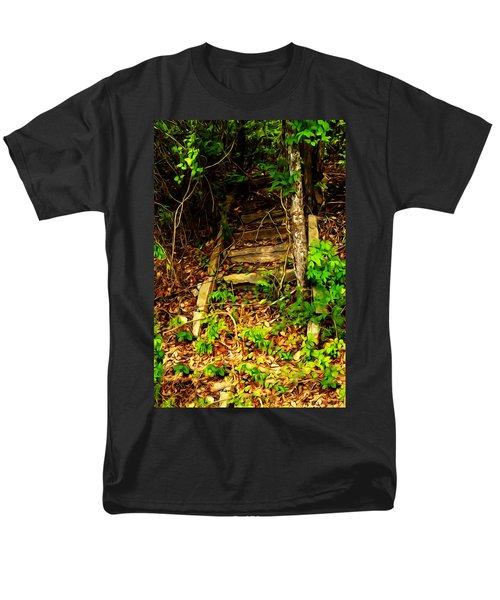 Secret Stairway Men's T-Shirt  (Regular Fit) by Bartz Johnson