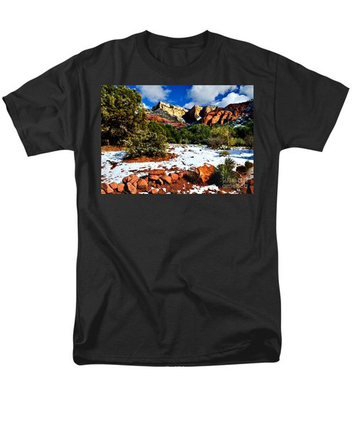 Sedona Arizona - Wilderness Men's T-Shirt  (Regular Fit) by Bob and Nadine Johnston