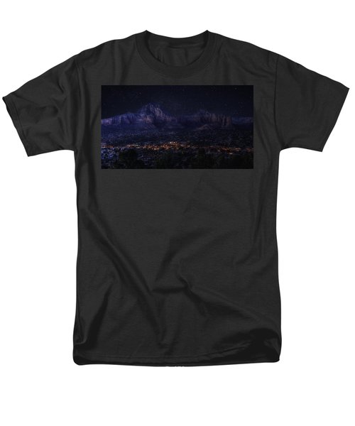 Men's T-Shirt  (Regular Fit) featuring the photograph Sedona By Night by Lynn Geoffroy