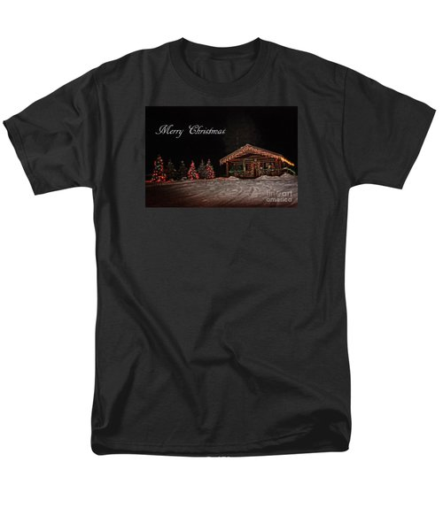 Men's T-Shirt  (Regular Fit) featuring the photograph Seeley Lake- Christmas Eve Montana Style by Janie Johnson