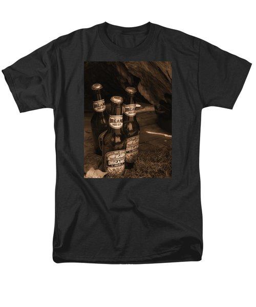Men's T-Shirt  (Regular Fit) featuring the photograph Sepia Bottles by Rachel Mirror