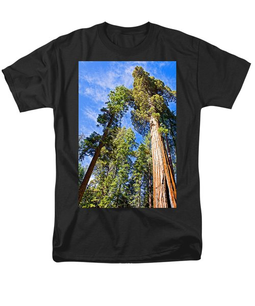 Sequoias Reaching To The Clouds In Mariposa Grove In Yosemite National Park-california Men's T-Shirt  (Regular Fit) by Ruth Hager