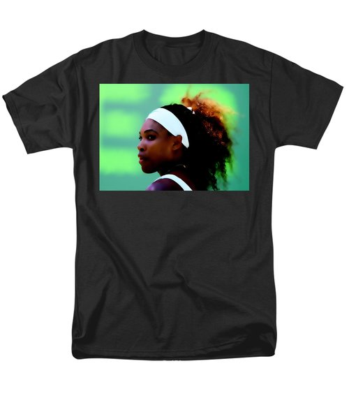Serena Williams Match Point Men's T-Shirt  (Regular Fit) by Brian Reaves