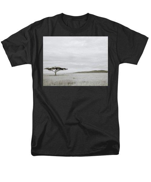 Serengeti Acacia Tree  Men's T-Shirt  (Regular Fit) by Shaun Higson
