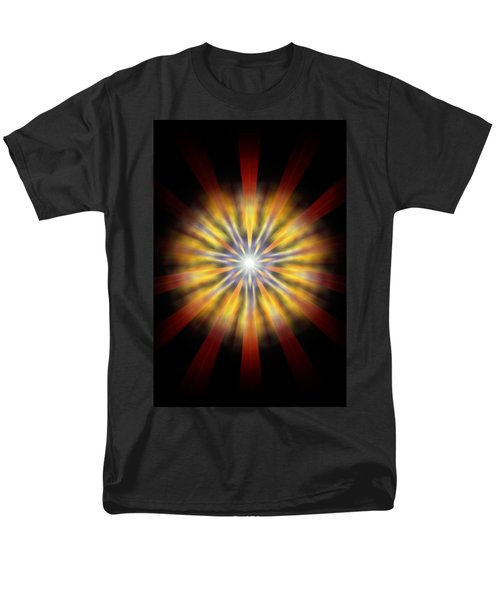 Men's T-Shirt  (Regular Fit) featuring the drawing Seven Sistars Of Light by Derek Gedney