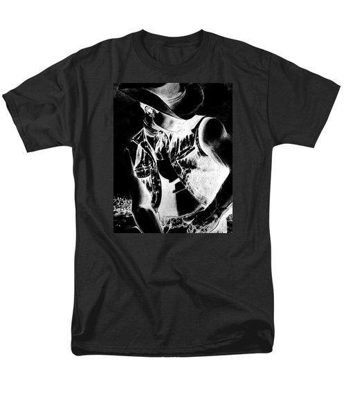 Print With Black And White Sexy Cowboy  Men's T-Shirt  (Regular Fit) by RjFxx at beautifullart com