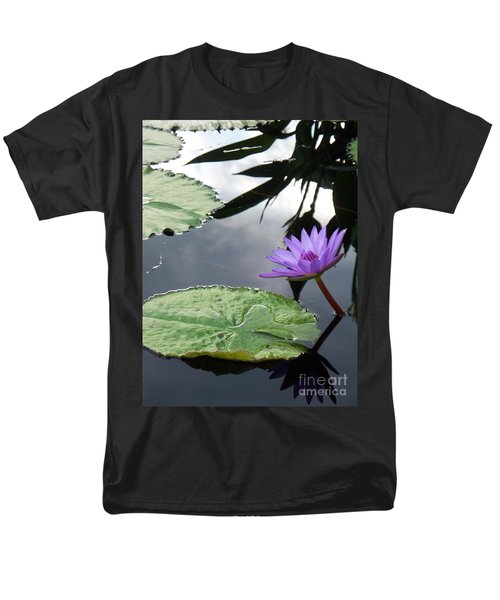 Shadows On A Lily Pond Men's T-Shirt  (Regular Fit) by Eric  Schiabor