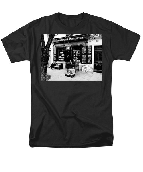 Shakespeare And Company Boookstore In Paris France Men's T-Shirt  (Regular Fit) by Richard Rosenshein