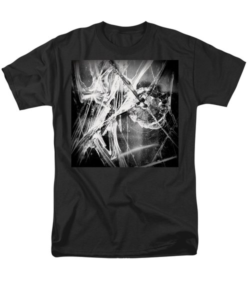 Men's T-Shirt  (Regular Fit) featuring the photograph Shatter - Black And White by Joseph Skompski