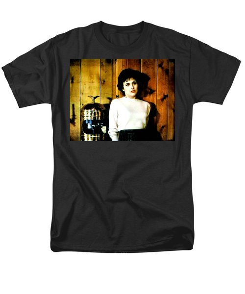Men's T-Shirt  (Regular Fit) featuring the painting Shed Been Murdered by Luis Ludzska