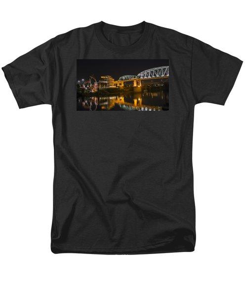 Shelby Street Bridge Nashville Men's T-Shirt  (Regular Fit) by Glenn DiPaola