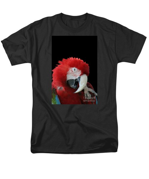 Shy Macaw Men's T-Shirt  (Regular Fit) by Judy Whitton