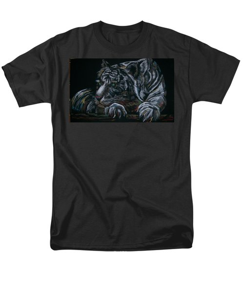 Men's T-Shirt  (Regular Fit) featuring the pastel Siberian Tiger by Peter Suhocke