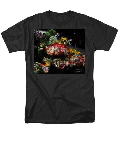 Men's T-Shirt  (Regular Fit) featuring the photograph Sidewalk Flower Shop by Lilliana Mendez