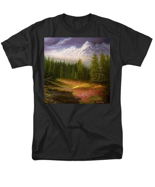 Sierra Spring Storm Men's T-Shirt  (Regular Fit) by Loxi Sibley