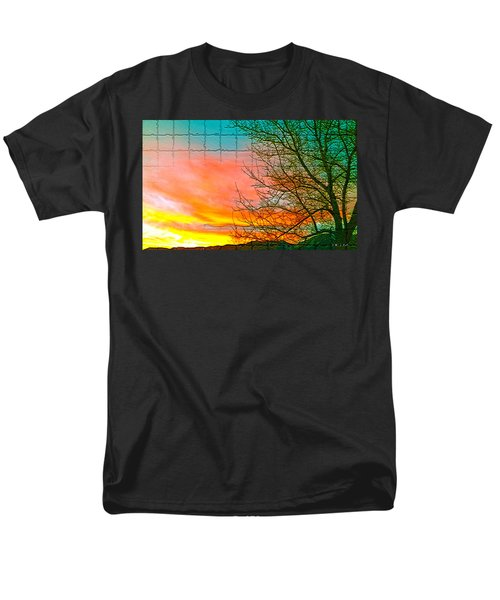 Sierra Sunset Cubed Men's T-Shirt  (Regular Fit)