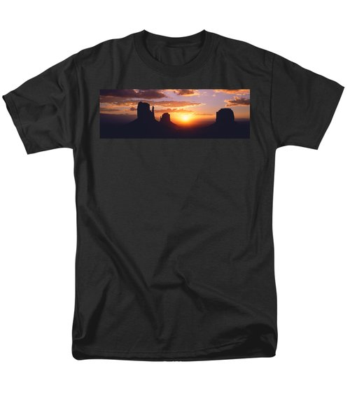 Silhouette Of Buttes At Sunset, The Men's T-Shirt  (Regular Fit) by Panoramic Images