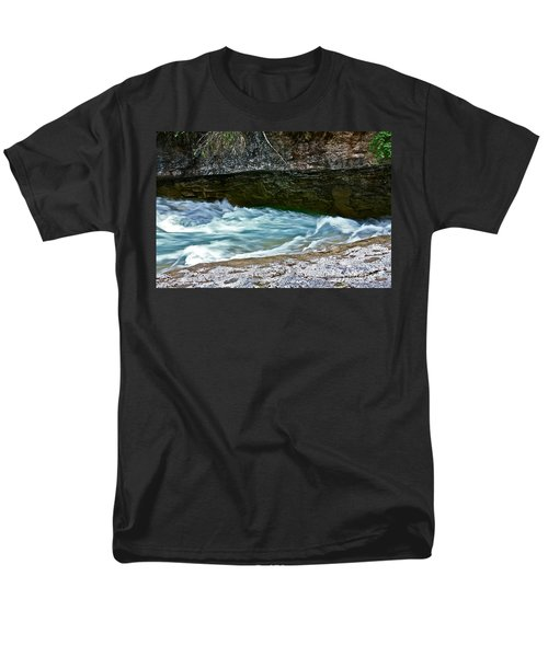 Men's T-Shirt  (Regular Fit) featuring the photograph Silky Flow by Linda Bianic