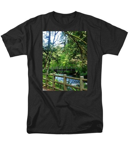 Men's T-Shirt  (Regular Fit) featuring the photograph Silver Falls Stream by VLee Watson