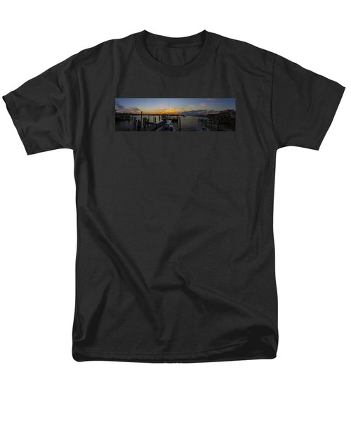 Silver Lake Sunset Panorama Men's T-Shirt  (Regular Fit) by Greg Reed