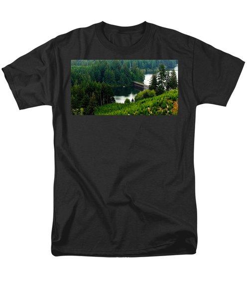 Single Boat Men's T-Shirt  (Regular Fit) by Katie Wing Vigil