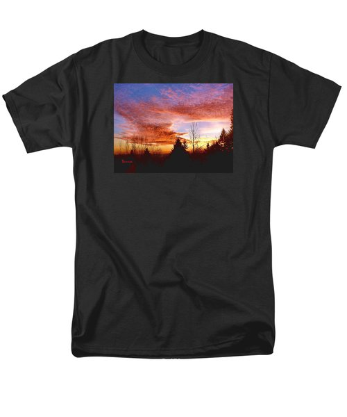 Skies Ablaze Men's T-Shirt  (Regular Fit) by Sadie Reneau