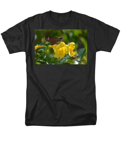 Men's T-Shirt  (Regular Fit) featuring the photograph Skipper Butterfly 2 by Debra Martz