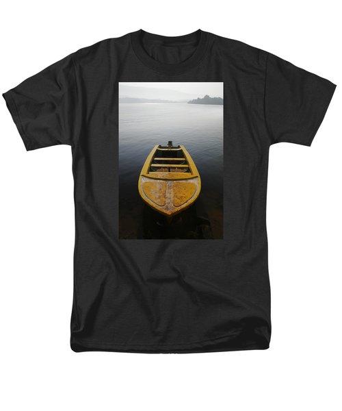 Men's T-Shirt  (Regular Fit) featuring the photograph Skc 0042 Calmness Anchored by Sunil Kapadia