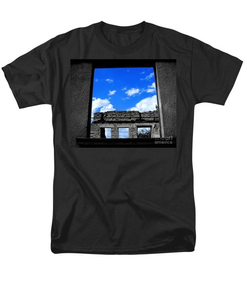 Men's T-Shirt  (Regular Fit) featuring the photograph Sky Windows by Nina Ficur Feenan