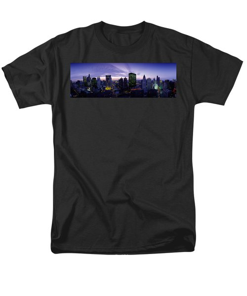 Skyscrapers, Chicago, Illinois, Usa Men's T-Shirt  (Regular Fit) by Panoramic Images