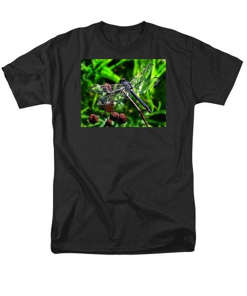 Men's T-Shirt  (Regular Fit) featuring the photograph Slaty Skimmer Dragonfly by William Tanneberger