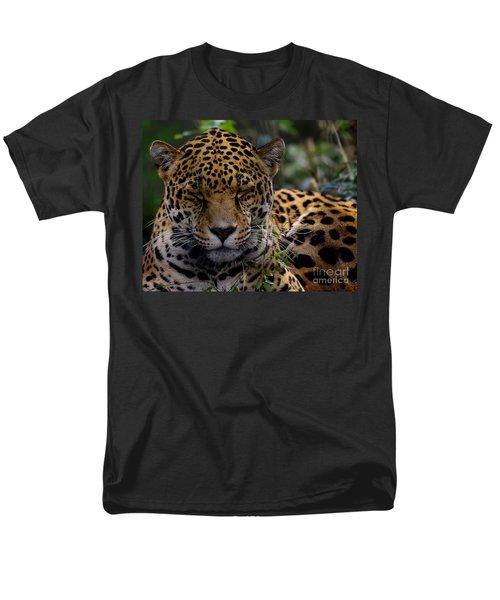 Sleeping Jaguar Men's T-Shirt  (Regular Fit) by Liz Masoner