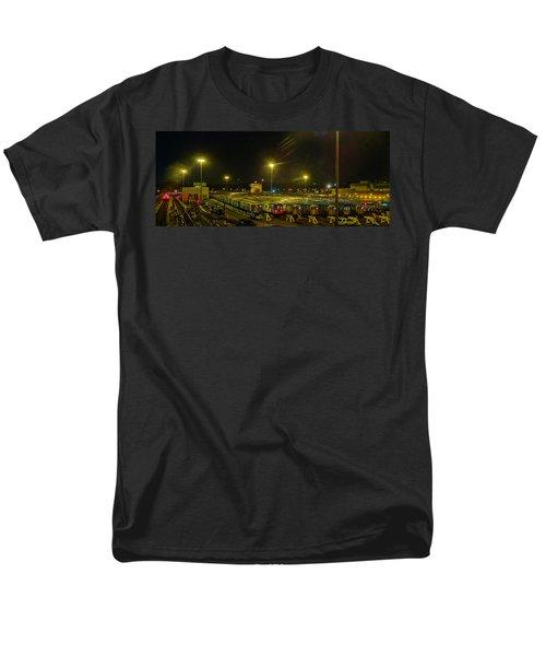Sleeping Subways Men's T-Shirt  (Regular Fit) by Jeffrey Friedkin