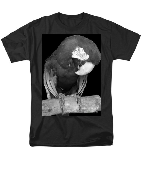 Sleepy Bird  There Is A Nap For That B And W Men's T-Shirt  (Regular Fit) by Barbie Corbett-Newmin