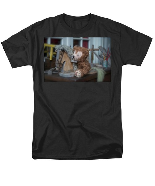 Men's T-Shirt  (Regular Fit) featuring the photograph Sleepy Cowboy Bear by Thomas Woolworth