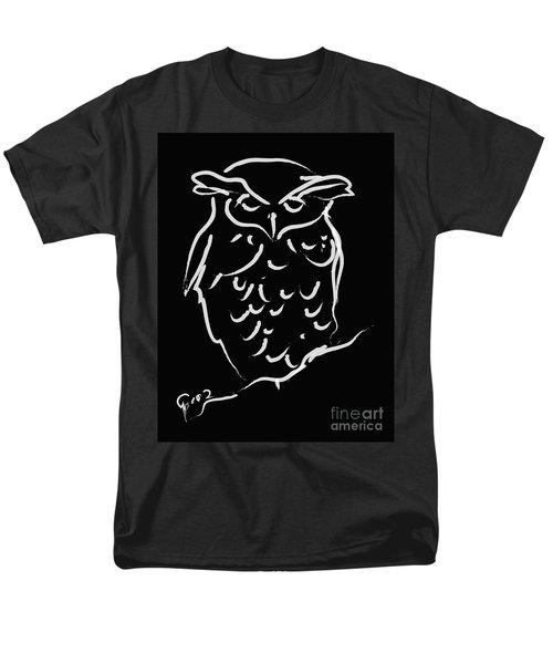 Sleepy Owl Men's T-Shirt  (Regular Fit) by Go Van Kampen