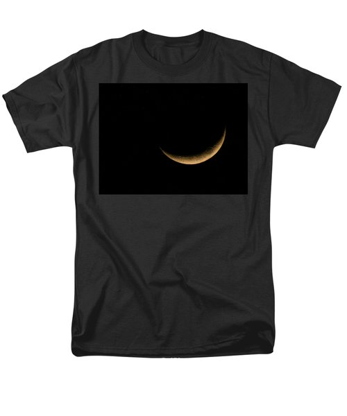 Men's T-Shirt  (Regular Fit) featuring the photograph Slender Waxing Crescent Moon by Katie Wing Vigil