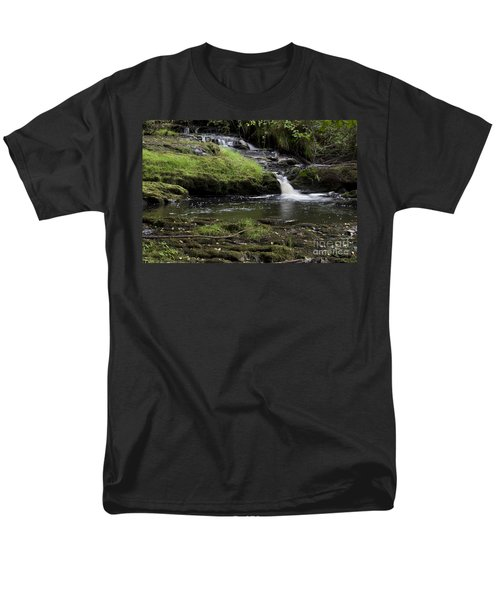 Small Falls On West Beaver Creek Men's T-Shirt  (Regular Fit) by Kathy McClure